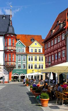 Coburg, Germany- I love and miss the out door cafes.