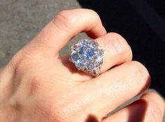 Antique Edwardian Diamond Cluster Ring