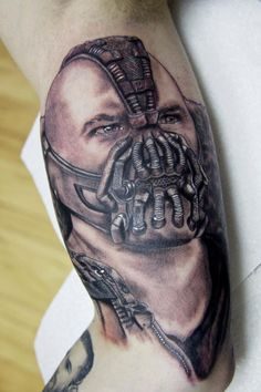 Bane from The Dark Knight Rises You dont fear death You welcome it. Your punishment must be more severe. Done by Michael Rose, Potters Bar