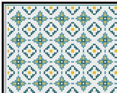 Moroccan Tile pattern - Cushion Cover - PDF pattern - Needlepoint - Cross Stitch - Tapestry