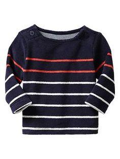 Striped terry boatneck shirt | Gap Hamptons Garden 'Up to 7lbs'