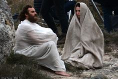 Joaquin Ploenix (Jesus) and Rooney Mara ( Mary Magdalene) were seen in full-costumed, with Joaquin sporting a wild beard and straggly long hair, as they filmed the crucifixion and Jesus' burial, in rural Italy on Saturday, as work got underway on Garth Davis' latest project