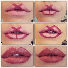 Plump lips without injection. 8 make-up technician, . 8 техник макияжа, к… Plump lips without injection. 8 make-up techniques that every woman can repeat Lip Contouring, Contour Makeup, Skin Makeup, Makeup Brushes, Eyebrow Makeup Tips, Eye Makeup Steps, Makeup Remover, Makeup Hacks, Makeup Inspo