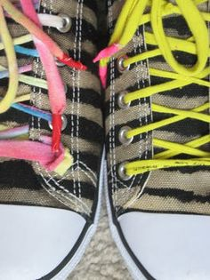 Create cool patterns on sneakers using bleach and a brush!