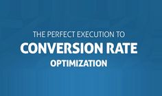 The Perfect Execution of Conversion Rate Optimization #infographic