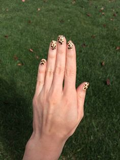Leopard print nails with #chinaglaze and #OPI