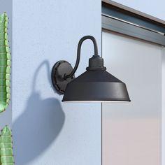 Williston Forge Julia 1 - Bulb H Outdoor Barn Light Outdoor Barn Lighting, Outdoor Sconces, Outdoor Wall Lantern, Porch Lighting, Farmhouse Lighting, Outdoor Walls, Wall Sconce Lighting, Modern Lighting, Bowl Designs