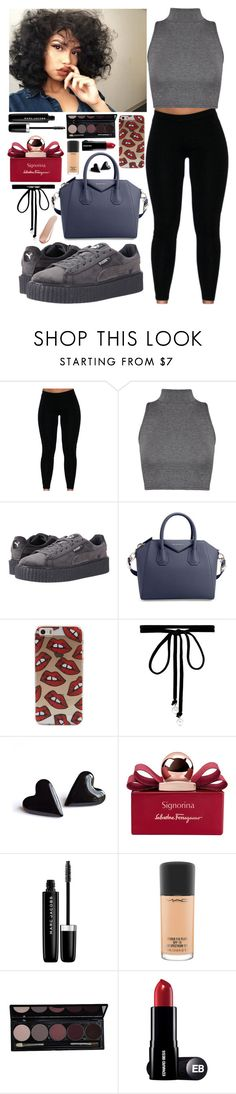 """What's the money without happiness "" by aaliyahlee ❤ liked on Polyvore featuring WearAll, Puma, Givenchy, Joomi Lim, Salvatore Ferragamo, Marc Jacobs, MAC Cosmetics and NARS Cosmetics"