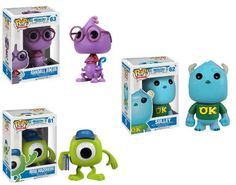 Monsters University Disney Funko Pop Vinyl Figure Set Of 3 http://popvinyl.net #funko #funkopop #popvinyl