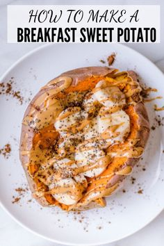 The Best Breakfast Sweet Potato: This healthy breakfast will be your new favorite plant-based, vegetarian and gluten free breakfast! Thanks to the fiber, protein and good fats in this meal, it will keep you satisfied and full all morning! Sweet Potato Recipes Healthy, Healthy Breakfast Recipes, Brunch Recipes, Whole Food Recipes, Healthy Snacks, Vegetarian Recipes, Healthy Eating, Cooking Recipes, Healthy Recipes
