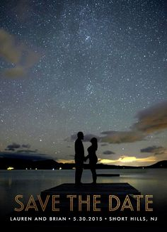 Our New Wedding Website! Brian + Lauren thegriskas.com A silhouette save the date for our Gatsby themed wedding, taken under the stars in New Hampshire.