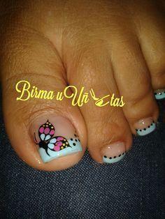 More Nail Design, Nail Art, Nail Salon, Irvine, Newport Beach Cute Toe Nails, Fancy Nails, Trendy Nails, Toenail Art Designs, Nail Art Designs Images, French Pedicure Designs, Pedicure Nail Art, Toe Nail Art, Pedicure Ideas