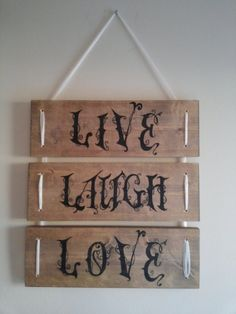 Live Laugh Love Wooden Sign by ValaCreations