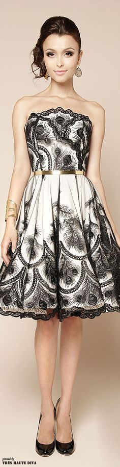 This is a beautiful dress. Not loving the gold belt and jewelry. Dina Jsr Spring/Summer 2014