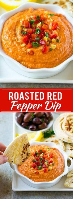 Muhammara Recipe | Roasted Pepper Dip | Roasted Pepper Recipe | Easy Dip Recipe | Appetizer