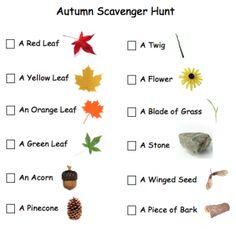 Autumn ~ Free Printable Scavenger Hunt | Scavenger Hunt