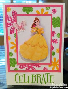 Playing with Paper: CTMH Scrapbooks, Cards & DIY: Video Tutorial: Random Stamp Your Own Patterned Paper for a Disney Princess Birthday Card