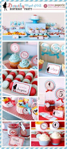 Dorothy Wizard Of Oz Birthday Party  DIY PRINTABLE by venspaperie