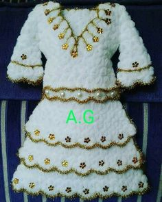 This Pin was discovered by Pın Baby Born, Indian Designer Wear, How To Wear, Crochet Blouse, Tricot, Gowns