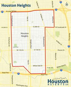 Spring Branch Neighborhood Map  Great Maps Of Houston  Pinterest