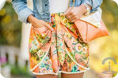 falda con madroños