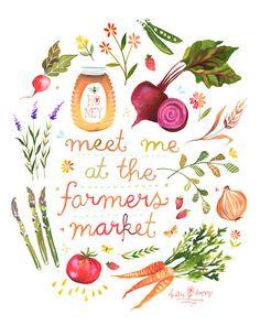 Farmers Market  8x10 print by thewheatfield on Etsy, $18.00