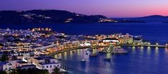 Mykonos by Night by travel2greece.com