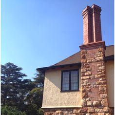 Sir Herbert Baker designed brick and stone chimney