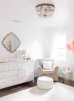 Beautiful Pastel and Gold Nursery - Inspired By This