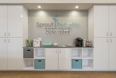 Apex Design Build designed and constructed new SF space for a Pediatric Dental Practice in Chicago, IL. Clinic Interior Design, Clinic Design, Dental Office Decor, Dental Office Design, Apex Design, Optometry Office, Cabinet Medical, Dental Center, Restaurant Chairs For Sale