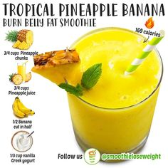 Fruit Smoothie Recipes, Protein Shake Recipes, Smoothie Drinks, Smoothie Diet, Coconut Smoothie, Healthy Juices, Healthy Foods To Eat, Healthy Smoothies, Healthy Drinks