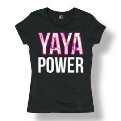 Yaya Power With Floral Fill Flowers Grandma Love Cute Fashion - Ladies T-Shirt