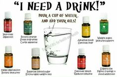 Oral use of Young Living Essential Oils.