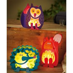 Lanterns forest animals, craft set for 3 pieces - Autumnal lantern greetings ♥ carefully selected ♥ Order online now!