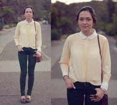 cute pale yellow top