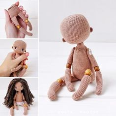 Beautiful Amigurumi Doll Crochet Pattern Ideas and Images – Page 15 of 35 – Daily - Knitting Doll Amigurumi Free Pattern, Crochet Doll Pattern, Amigurumi Doll, Knitted Dolls, Crochet Dolls, Love Knitting, Doll Making Tutorials, Cute Crochet, Beautiful Crochet