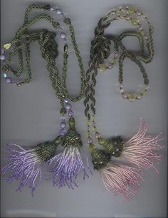 Inspiration: I adore these beaded thistles/tassels! Beautiful color graduation - very artfully done.