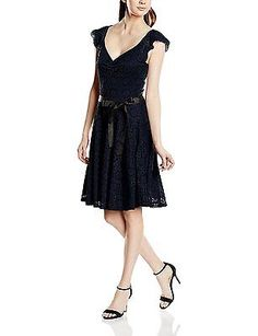 10, Blue (Navy), Morgan Women's Ranga Short Sleeve Dress NEW