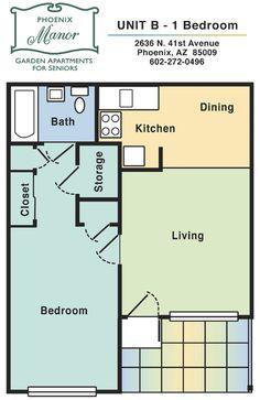 1 bedroom apartment: unit b-1