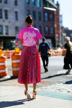 Love. Pink as fuck. #nyfw #streetstyle #pink