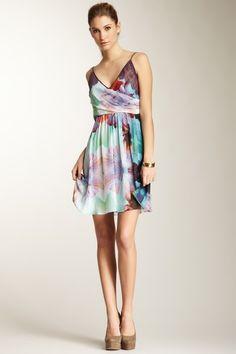{Mirrored Hibiscus Print Dress} Nicole Miller