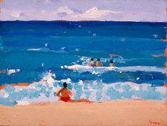 """Beach Life, Maui"" by Charles Sovek (1937- 2007)"
