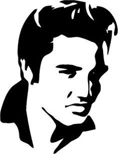 Elvis Jordan Mylar Stencil Craft Home Decor Painting Wall Art Micron & Garden Silhouette Tattoos, Silhouette Clip Art, Silhouette Images, Silhouette Design, Silhouette Face, Face Stencils, Stencil Art, Star Wars Stencil, Stenciling