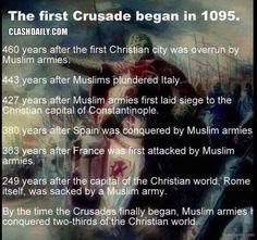 Here's a history lesson for all those who want to use the Crusades to attack Christianity and defend Islam.muslims have been trying to destroy Christianity for years, but God won't let that happen! Westerns, Templer, Left Wing, Knights Templar, Atheism, History Facts, World History, Christianity, Decir No