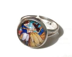 Disney Beauty and the Beast ring by MissMonsters on Etsy