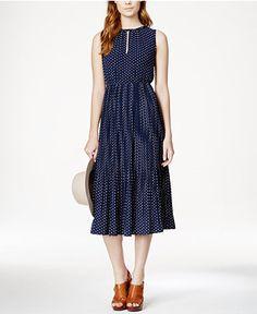Maison Jules Printed Midi Dress, Only at Macy's - Dresses - Women - Macy's