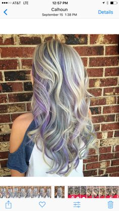 Mermaid hair. Violet and silver hair.