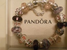 """Lulu's  Authentic Pandora Bracelet with by Lulujewelrytreasures, $110.99 This one is brand New called """"Purple Haven"""" 10% all jewelry until June 30th, Enter Code Lulu2013. Time is running out! Hurry and check out my Shop!  Lulu"""