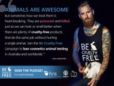 Jona Weinhofen of I KILLED THE PROM QUEEN, and rescue bunny Olympia, star in this striking new photo for the Be Cruelty-Free Australia campaign to Ban Cosmetics Animal Testing!  Blokes should embrace their inner bunny and support cosmetics without cruelty! Please share.  Credits:  Photography by: Andrew Raszevski Cruelty-Free Hair and Make Up by: Nicole Groch Bunny model: Olympia, rescued by the Australian Animal Protection Society
