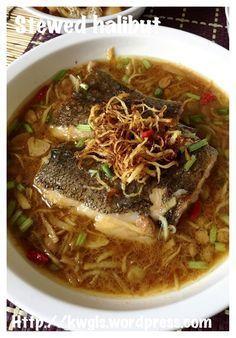 Stewed Halibut With Fermented Soya Beans (豆瓣酱半煎煮比目鱼)  #guaishushu #kenneth_goh   #半煎煮鱼  #halibut